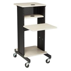 Oklahoma Sound? Premium Presentation Cart, Black/Ivory