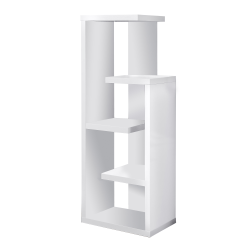 Monarch Specialties 5-Shelf Open-Concept Bookcase, White