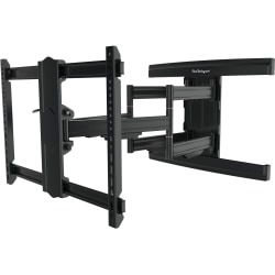 "StarTech.com TV Wall Mount - Full Motion Articulating Arm - Up to 100 in. TV - Mount a large-screen VESA mount display up to 100"" with max weight of 165 lb. / 75 kg (fits curved TVs, with compatible VESA mount)"