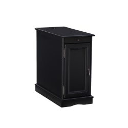 """Powell Girotti Accent Table With Storage, 15""""H x 29-1/4""""W x 26""""D, Black"""
