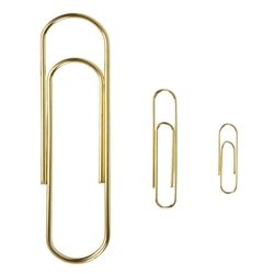 Office Depot® Brand Paper Clips, Big, Gold, Pack Of 5
