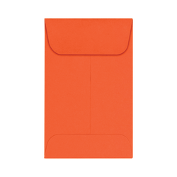 "LUX Coin Envelopes, #1, 2 1/4"" x 3 1/2"", Tangerine, Pack Of 250"