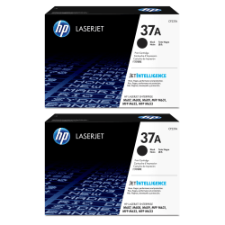 HP LaserJet 37A Black Toner Cartridges (CF237A), Pack Of 2 Cartridges