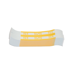Currency Straps, Yellow, $1,000, Pack Of 1,000
