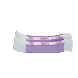 Currency Straps, Violet, $2,000, Pack Of 1,000