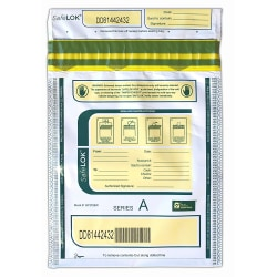 "Control Group Tamper-Evident Deposit Bags, 9"" x 12"", White, Pack Of 100"