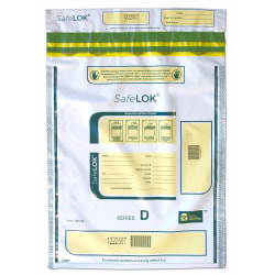 """Control Group Tamper-Evident Deposit Bags, 12"""" x 16"""", White, Pack Of 100"""