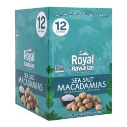 Royal Hawaiian Sea Salt Macadamia Nuts, 1 Oz, Box Of 12 Packs