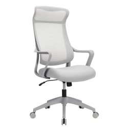 Realspace® Lenzer Mesh High-Back Task Chair, Gray