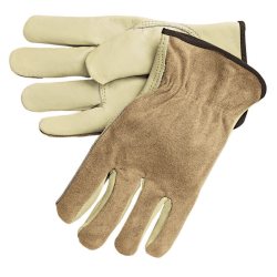 Memphis Glove Premium-Grade Leather Unlined Driving Gloves, Medium, Pack Of 12 Pairs