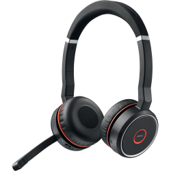 Jabra EVOLVE 75 Headset UC Stereo - Stereo - Wireless - Bluetooth - 100 ft - 20 Hz - 20 kHz - Over-the-head - Binaural - Circumaural - Noise Canceling
