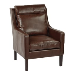 Office Star™ Avenue Six Colson Bonded Leather Accent Chair, Cocoa