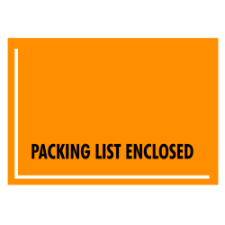 "Office Depot® Brand ""Packing List Enclosed"" Envelopes, Full Face , 4 1/2"" x 6"", Fluorescent Orange, Pack Of 1,000"