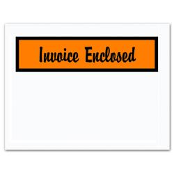 "Office Depot® Brand ""Invoice Enclosed"" Envelopes, Panel Face, 4 1/2"" x 6"", Orange, Pack Of 1,000"