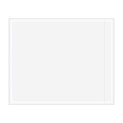 """Office Depot® Brand Clear Packing List Envelopes, 4 1/2"""" x 5 1/2"""", Pack Of 1,000"""
