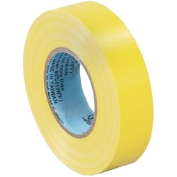 "Tape Logic® 6180 Electrical Tape, 1.25"" Core, 0.75"" x 60', Yellow, Case Of 10"