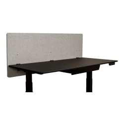 """Luxor RECLAIM PET Acoustic Privacy Panel, 24"""" x 60"""", Misty Gray"""