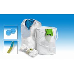 Honey-Can-Do 5-Piece Basic Laundry Kit, White