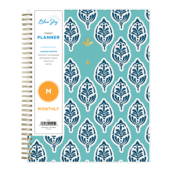 """Blue Sky™ Monthly Planner, 8"""" x 10"""", Sullana, January To December 2021, 116046"""
