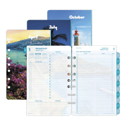 """Day-Timer® Coastlines Daily Loose-Leaf Refill, 5-1/2"""" x 8-1/2"""", January To December 2020, 131802001"""