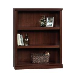 "Sauder® Select 43 13/16"" 3 Shelf Transitional Bookcase, Cherry/Medium Finish, Standard Delivery"
