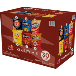 Frito-Lay® Variety Pack, Classic Chips, 1.0 Oz, Pack of 30 Bags