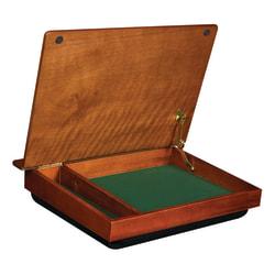 "LapGear Schoolhouse Lap Desk, 3.5""H x 19.1""W x 14.5""D, Mahogany"