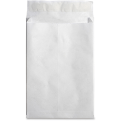 "Business Source Tyvek Expansion Envelopes - Document - 12"" Width x 16"" Length - 2"" Gusset - Peel & Seal - Tyvek - 100 / Carton - White"