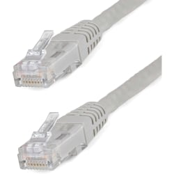 StarTech.com 35 ft Gray Molded Cat6 UTP Patch Cable - Category 6 for Network Device - 35 ft - 1 x RJ-45 Male Network - 1 x RJ-45 Male Network - Gray