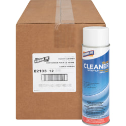 Genuine Joe Glass Cleaner Aerosol Spray, 19 Oz Can, Box Of 12