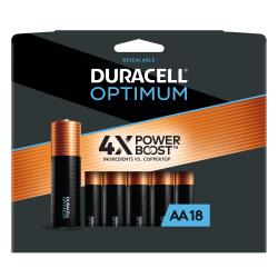 Duracell® Optimum AA Alkaline Batteries, Pack Of 18