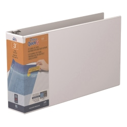 """Stride® QuickFit® Overlay 3-Ring Binder, 3"""" D-Rings, Sheet Size, 56% Recycled, White"""