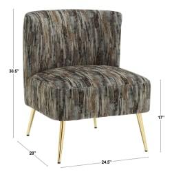 LumiSource Fran Slipper Chair, Gray/Gold