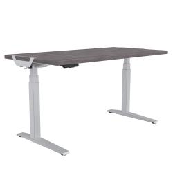 "Fellowes® Levado Height-Adjustable Desk, 60""W, Gray Ash"