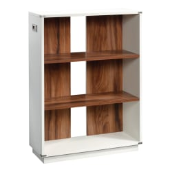 """Sauder Vista Key 41""""H 3-Shelf Bookcase, Pearl Oak/Blaze Acacia"""