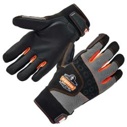 Ergodyne ProFlex 9002 ANSI/ISO-Certified Full-Finger Anti-Vibration Gloves, Large, Black