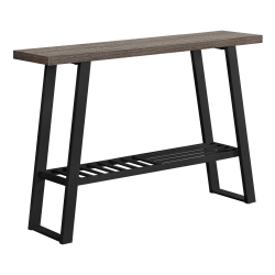 "Monarch Specialties Brittany Accent Table, 32""H x 47-1/4""W x 12""D, Dark Taupe/Black"