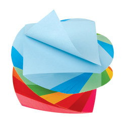 """Office Depot® Neon Twirl Memo Cube, 3"""" x 3"""", 1,200 Pages (600 Sheets), Assorted Colors"""