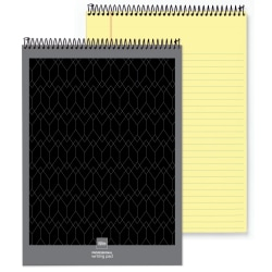 "Office Depot® Brand Professional Top Wirebound Wide-Ruled Legal Pad, 8 1/2"" x 11 3/4"", Canary, 70 Sheets"