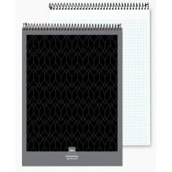 "Office Depot® Brand Professional Top Wirebound Quad-Ruled Legal Pad, 8 1/2"" x 11 3/4"", White, 70 Sheets"