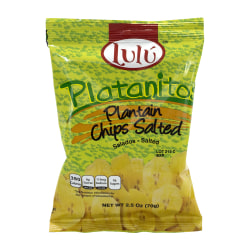 Lulu Platanitos Salted Plantain Chips, 2.5 Oz, Pack Of 24 Bags