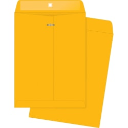 "Business Source 32 lb Kraft Clasp Envelopes - Clasp - #97 - 10"" Width x 13"" Length - 32 lb - Clasp - Kraft - 100 / Box - Brown Kraft"