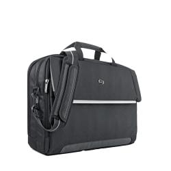 "Solo® Chrysler Briefcase For 17.3"" Laptops, Black"