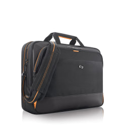 Solo® Urban Ultra Laptop Case, Black/Orange