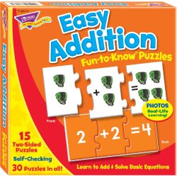 Trend® Fun-To-Know Puzzles, Addition, Pack Of 45