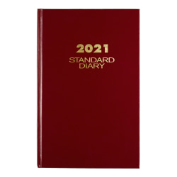 "AT-A-GLANCE® Standard Daily Diary, 7-3/4"" x 12"", Red"