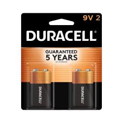 Duracell® Coppertop Alkaline 9-Volt Batteries, Pack Of 2