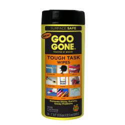 Goo Gone® Tough Task Cleaner Wipes, Citrus Scent, Pack Of 24