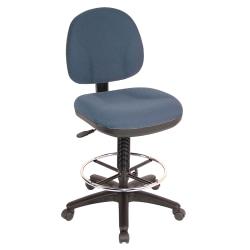 Lorell® Millenia Pneumatic Task Stool, Blue