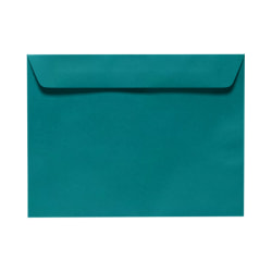 """LUX Booklet Envelopes With Moisture Closure, 6"""" x 9"""", Teal, Pack Of 50"""